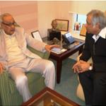 Dr. Pradeep Chowbey with S. H. Raza