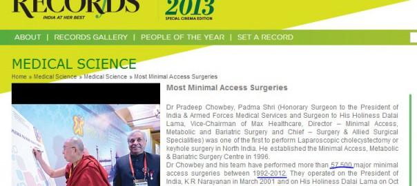 most 'minimal access' surgeries