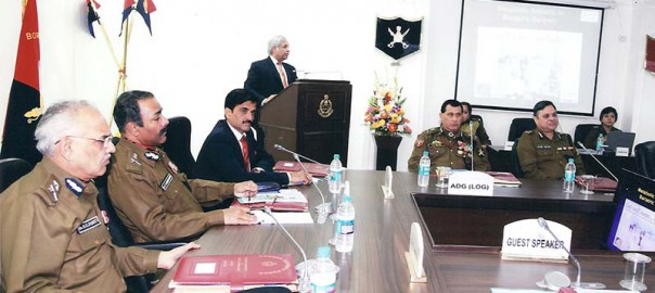 Dr. Chowbey Addressing Armed Forces