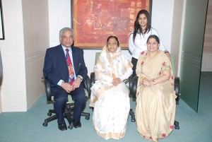 Dr. Pradeep Chowbey with Smt. Pratibha Patil