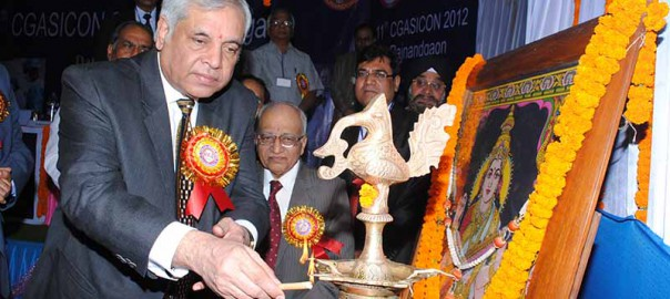 Dr. Pradeep Chowbey inaugrating CGASICON