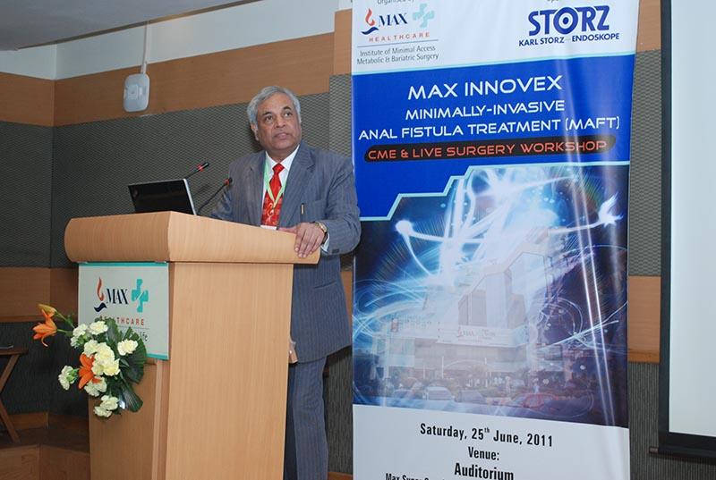 Dr. Pradeep Chowbey addressing MAFT