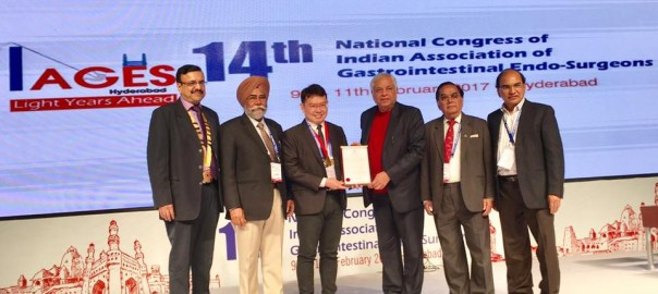 Dr Pradeep Chowbey invited as an esteemed faculty at annual conference of Indian association of gastrointestinal surgeons IAGES 2017 at Hyderabad 2