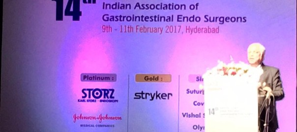 Dr Pradeep Chowbey invited as an esteemed faculty at annual conference of Indian association of gastrointestinal surgeons IAGES 2017 at Hyderabad