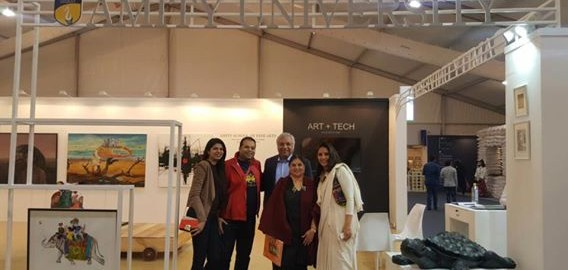 Wonderful time with family and friends at India Art Fair 2017