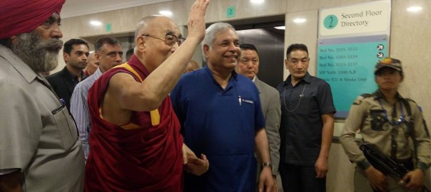 Wonderful moments spent with His Holiness Dalai Lama today during his visit at Max Hospital.