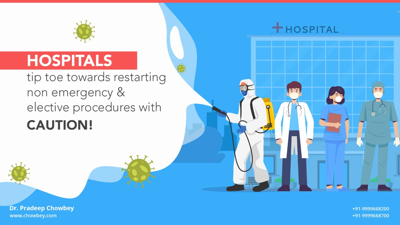 Hospitals tip toe towards restarting non emergency & elective procedures with caution!